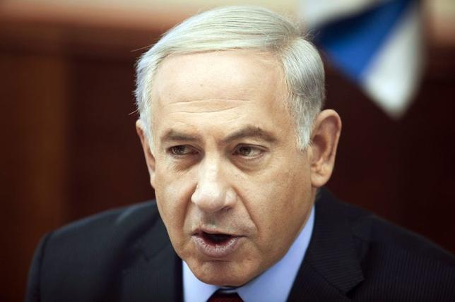 Israel's Prime Minister Benjamin Netanyahu attends a cabinet meeting at his office in Jerusalem June 29, 2014. REUTERS/Dan Balilty/Pool