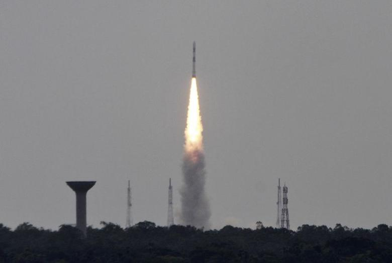 Polar Satellite Launch Vehicle (PSLV-C23), carrying five satellites, lifts off from the Satish Dhawan Space Centre in Sriharikota, north of Chennai June 30, 2014. REUTERS/Babu