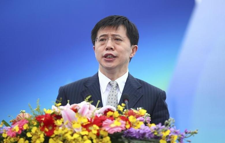 Ji Wenlin, then mayor of Haikou city, speaks at the opening ceremony of a yatch race in Haikou, Hainan province March 20, 2011. REUTERS/Stringer
