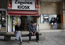 Dans le centre de Nicosie. Chypre a accompli des progrès importants dans le cadre du plan d'ajustement économique mais ses prévisions sont assombries par le niveau élevé de ses créances douteuses et l'incertitude entourant la croissance en Russie, qui est un de ses principaux partenaires, selon le Fonds monétaire international. /Photo d'archives/REUTERS/Yorgos Karahalis