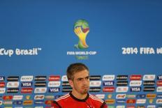 Jogador alemão Lahm concede entrevista no dia 29 de junho. REUTERS/Edgard Garrido