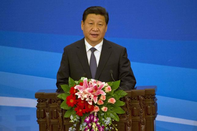 Chinese President Xi Jinping speaks at the opening ceremony of the sixth ministerial meeting of the China-Arab Cooperation Forum held at the Great Hall of the People in Beijing June 5, 2014. REUTERS/Ng Han Guan/Pool