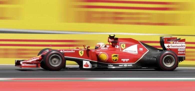 Ferrari Formula One driver Kimi Raikkonen of Finland drives during the Austrian F1 Grand Prix at the Red Bull Ring circuit in Spielberg June 22, 2014. REUTERS/David W Cerny