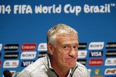 Técnico da França, Didier Deschamps, durante entrevista coletiva no Rio de Janeiro. 03/07/2014. REUTERS/Charles Platiau