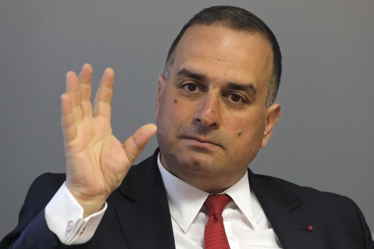 Marwan Lahoud, Chief Strategy and Marketing Officer of Airbus Group, gestures as he speaks during an interview with Reuters in Paris, March 26, 2014 file photo. REUTERS/Philippe Wojazer