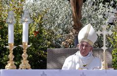 El papa Francisco pidió más respeto por la naturaleza el sábado, calificando la destrucción de los bosques tropicales de Sudamérica y otras formas de explotación medioambiental como pecados de tiempos modernos. En la imagen, el papa en una misa en Campobasso, Italia, el 5 de julio de 2014.  REUTERS/Giampiero Sposito