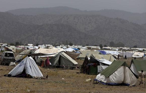 A general view of a refugee camp for displaced Pakistanis in Khost province July 2, 2014. REUTERS/Omar Sobhani