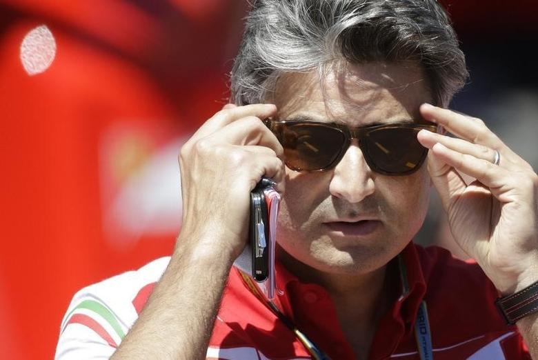Ferrari Formula One team principal Marco Mattiacci looks on during the third free practice session of the Monaco Grand Prix in Monaco May 24, 2014.   REUTERS/Max Rossi