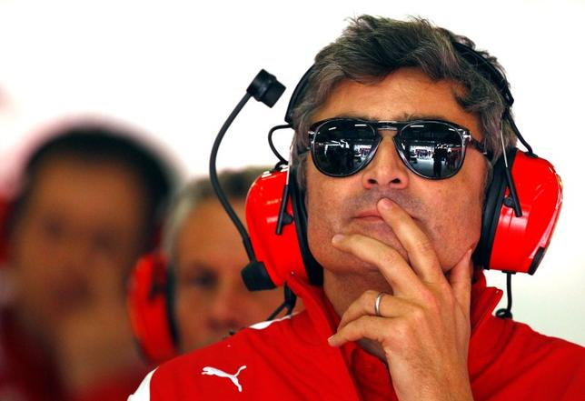 New Ferrari Formula One team principal Marco Mattiacci attends the second practice session of the Chinese F1 Grand Prix at the Shanghai International circuit, April 18, 2014. REUTERS/Carlos Barria