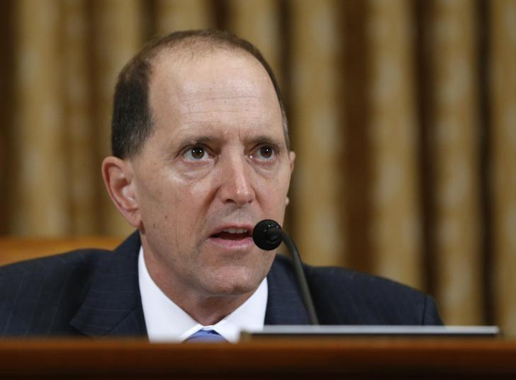 U.S. House Ways and Means Committee Chairman Dave Camp (R-MI) questions outgoing acting IRS Commissioner Steven Miller during a hearing on the Internal Revenue Service targeting conservative groups on Capitol Hill in Washington, May 17, 2013 file photo.     REUTERS/Jason Reed