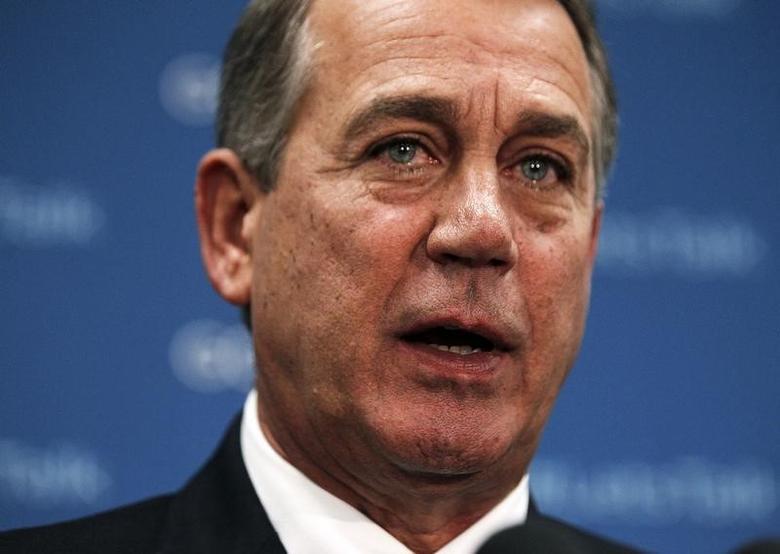 U.S. House Speaker John Boehner (R-OH) speaks to the press in Washington, October 8, 2013.  REUTERS/Jason Reed