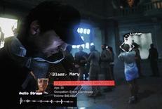 Ubisoft Entertainment a publié un chiffre d'affaires record au 1er trimestre 2014-15, en hausse de 374% à 360 millions d'euros, grâce au succès de son nouveau jeu d'action Watch Dogs (photo), dont il a vendu plus de huit millions de copies. /Photo d'archives/REUTERS/Fred Prouser