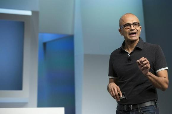 Satya Nadella, Microsoft Corp chief executive, attends the unveil event of the new Microsoft Surface Pro 3 in New York May 20, 2014. REUTERS/Brendan McDermid/Files