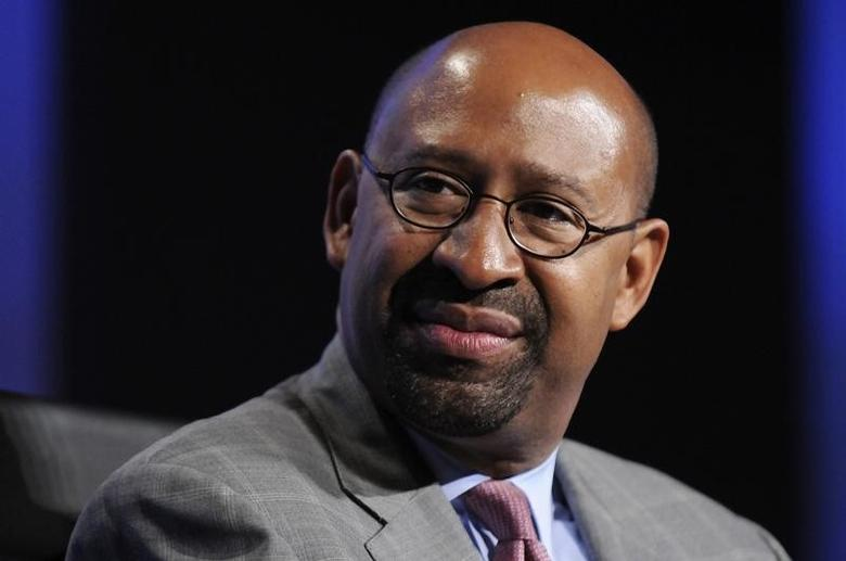 Philadelphia Mayor Michael Nutter participates in a panel discussion during the Peterson Foundation 2012 Fiscal Summit in Washington, May 15, 2012.   REUTERS/Jonathan Ernst