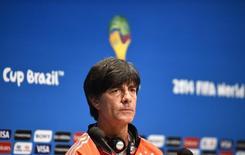 Técnico da Alemanha, Joachim Loew, durante entrevista coletiva no Rio de Janeiro. 12/07/2014. REUTERS/Dylan Martinez