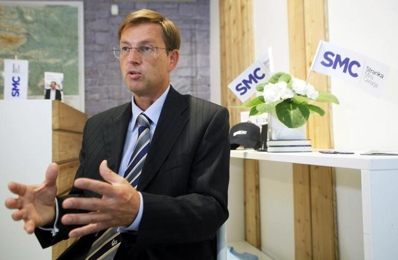 Miro Cerar, leader of the SMC party, speaks during an interview in Ljubljana in this July 2, 2014 file photo.  REUTERS/Srdjan Zivulovic