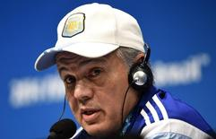 Técnico da Argentina, Alejandro Sabella, durante entrevista coletiva no Rio de Janeiro. 12/07/2014. REUTERS/Dylan Martinez
