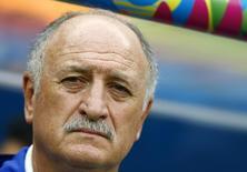 Técnico Luiz Felipe Scolari na partida Brasil x Holanda em Brasília. 12/07/2014 REUTERS/Dominic Ebenbichler