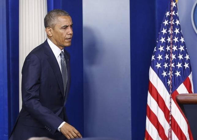 U.S. President Barack Obama at the White House in Washington, July 18, 2014.  REUTERS/Larry Downing