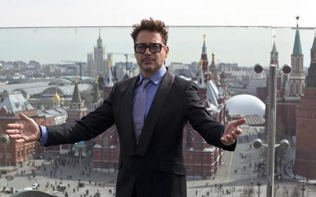 Cast member Robert Downey Jr. poses for a picture during a promotional photo event of the movie ''Iron Man 3'' in central Moscow, April 10, 2013. REUTERS/Pavel Golovkin/Files