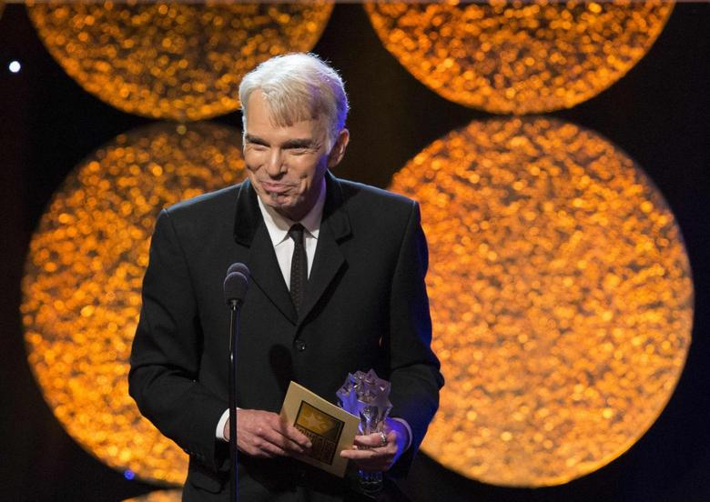 Actor Billy Bob Thornton accepts the Best Actor in a Movie or Mini-Series for ''Fargo'' at the 4th Annual Critics' Choice Television Awards in Beverly Hills, California in this file photo taken June 19, 2014.   REUTERS/Mario Anzuoni/Files