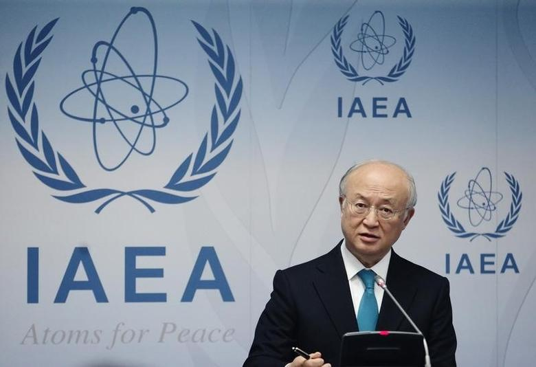 International Atomic Energy Agency (IAEA) Director General Yukiya Amano addresses a news conference after a board of governors meeting at the IAEA headquarters in Vienna June 2, 2014. REUTERS/Heinz-Peter Bader