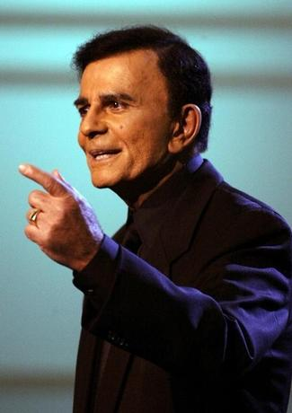 U.S. television and radio personality Casey Kasem appears on the ''American Top 40 Live'' show in Los Angeles April 24, 2005. REUTERS/Lee Celano  ljc/YH
