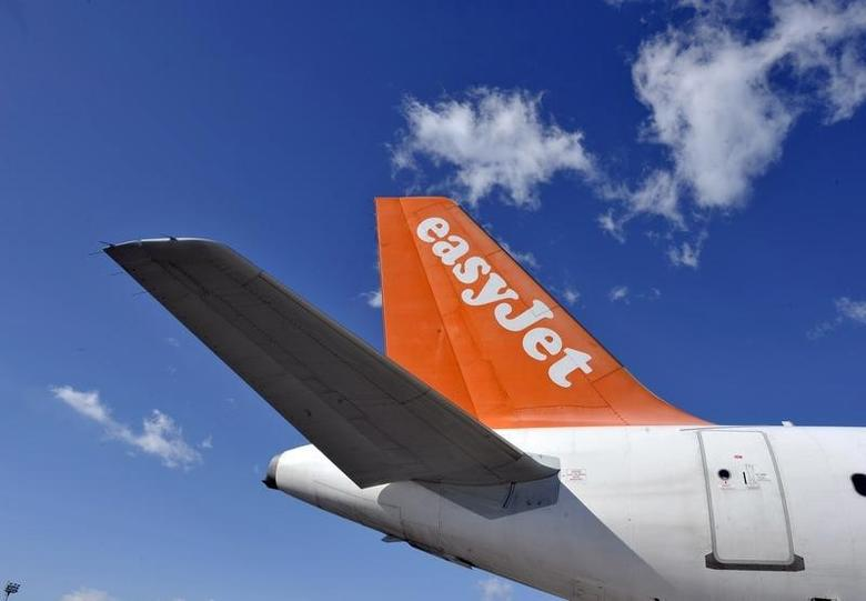 An EasyJet Airbus aircraft is seen at Ljubljana's airport Brnik February 16, 2012. REUTERS/Srdjan Zivulovic