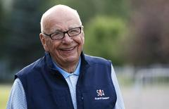 Rupert Murdoch, CEO of News Corporation, arrives for the third day of the Allen and Co. media conference in Sun Valley, Idaho July 11, 2014. REUTERS/Rick Wilking