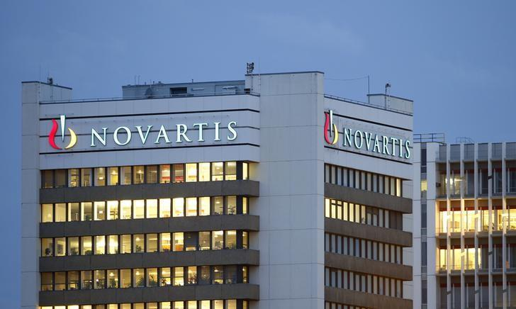 The logo of Swiss drugmaker Novartis is seen at its headquarters in Basel October 22, 2013.   REUTERS/Arnd Wiegmann