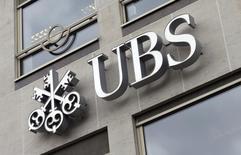 Logo do banco UBS na fachada de sua sede belga, em Bruxelas. 20/06/2014.  REUTERS/Francois Lenoir