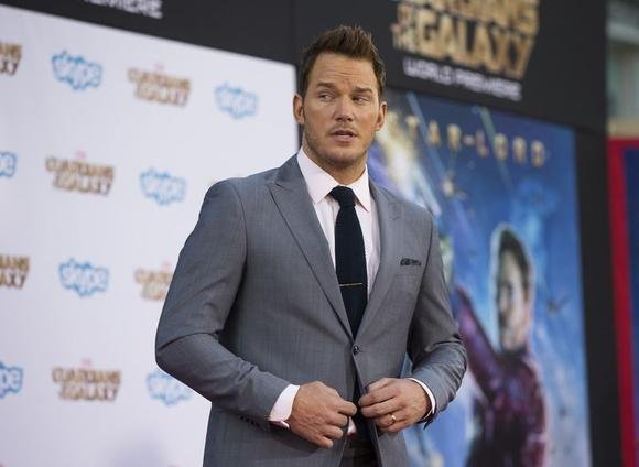 Cast member Chris Pratt poses at the premiere of ''Guardians of the Galaxy'' in Hollywood, California July 21, 2014. REUTERS/Mario Anzuoni
