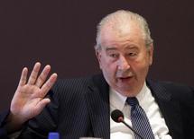 Presidente da AFA Julio Grondona morre aos 82 anos. Foto de 4 de fevereiro de 2012.  REUTERS/Jorge Adorno