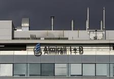 La sede del grupo Almirall en San Feliú de Llobregat, España, sep 3 2008. Astrazeneca dio un paso importante para ampliar su negocio respiratorio al llegar a un acuerdo para comprar al grupo español Almirall los derechos de sus medicamentos pulmonares por hasta 2.110 millones de dólares.   REUTERS/Gustau Nacarino