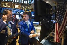 La Bourse de New York a fini sur une note irrégulière mercredi. Le Dow Jones a cédé 0,19%, tandis que le S&P-500 a gagné 0,01% et le Nasdaq 0,45%. /Photo prise le 28 juillet 2014 /REUTERS/Lucas Jackson
