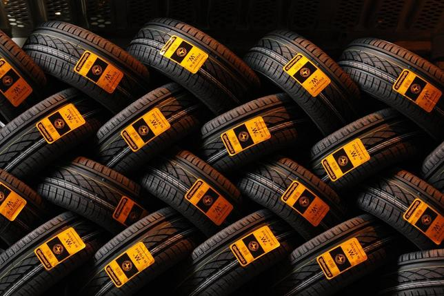 New car tyres are seen inside the Clairoix Continental tyre factory in this March 12, 2009 file photo. REUTERS/Benoit Tessier/Files