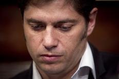 Ministro da Economia da Argentina, Axel Kicillof, durante coletiva de imprensa no consulado argentino em Nova York. 30/07/2014. REUTERS/Carlo Allegri