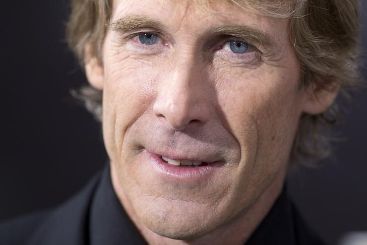 Director Michael Bay arrives for the premiere of the movie ''Transformers: Age of Extinction'' in New York June 25, 2014.   REUTERS/Carlo Allegri