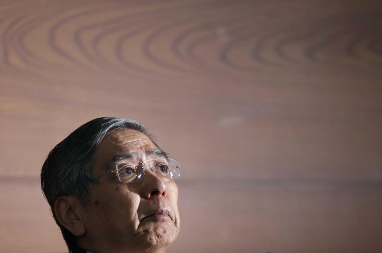 Bank of Japan (BOJ) Governor Haruhiko Kuroda attends a news conference at the BOJ headquarters in Tokyo July 15, 2014. REUTERS/Toru Hanai