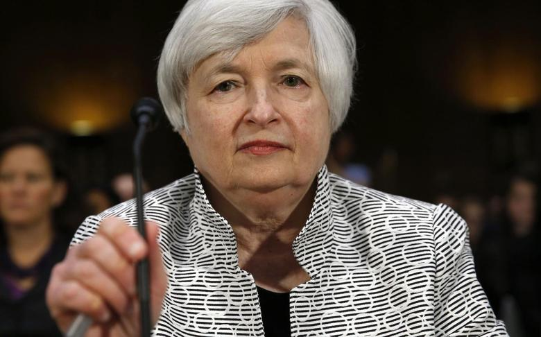 U.S. Federal Reserve Chair Janet Yellen testifies before the Senate Banking Committee on Capitol Hill in Washington July 15, 2014.REUTERS/Kevin Lamarque