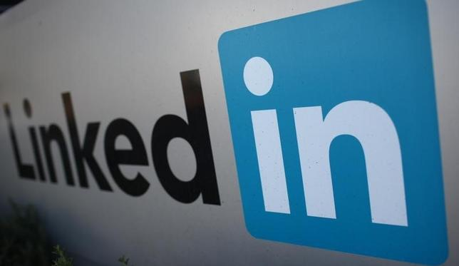The logo for LinkedIn Corporation, a social networking website for people in professional occupations, is pictured in Mountain View, California February 6, 2013.  REUTERS/Robert Galbraith/Files