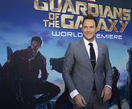 """O ator Chris Pratt participa da pré-estreia de """"Guardiões da Galáxia"""", em Hollywood, na Califórnia, na semana passada. 21/07/2014 REUTERS/Mario Anzuoni"""