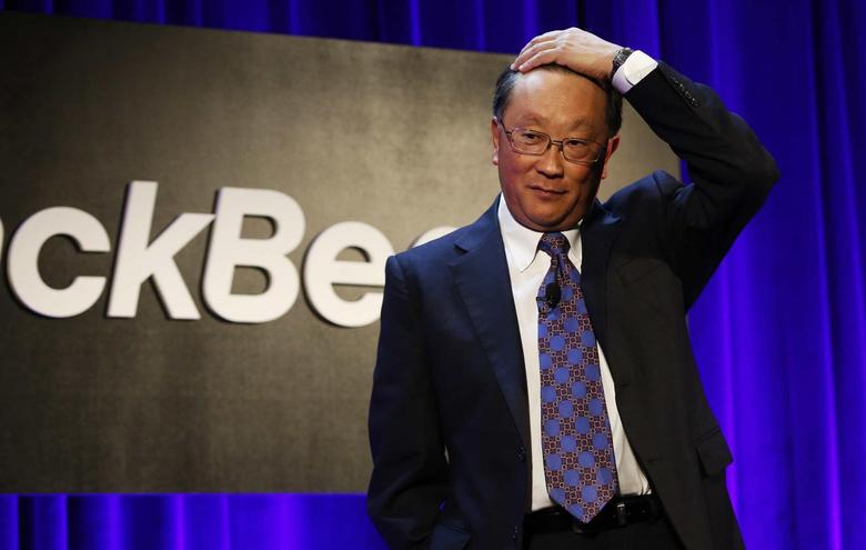 BlackBerry Ltd. Chairman and CEO John Chen speaks at the BlackBerry Security Summit in New York, July 29, 2014.   REUTERS/Mike Segar