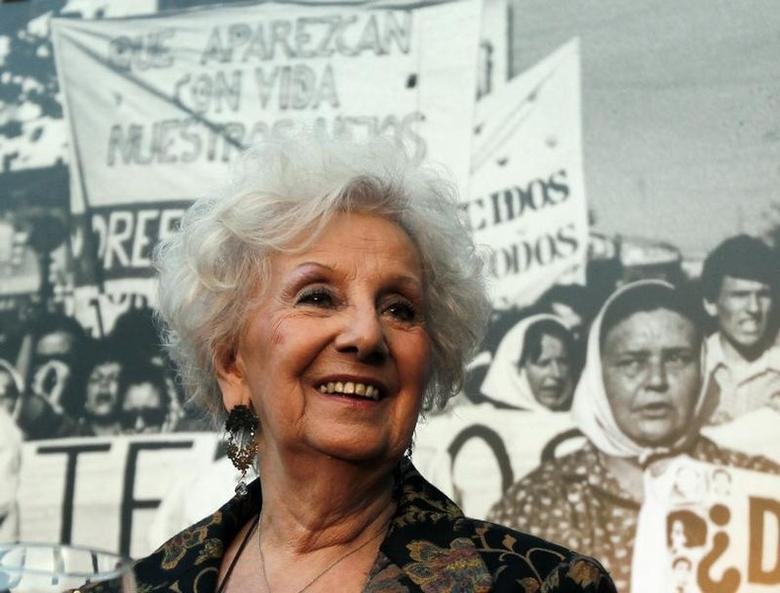 Estela de Carlotto, president of human rights organization Abuelas de Plaza de Mayo (Grandmothers of Plaza de Mayo), attends the inauguration of a cultural center at the former ESMA navy school on the 38th anniversary of Argentina's 1976 military coup in Buenos Aires, March 24, 2014. REUTERS/Marcos Brindicci