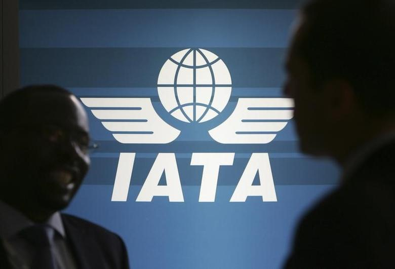 The logo of the International Air Transport Association (IATA) is on display at the venue of its 65th annual general meeting in Kuala Lumpur June 8, 2009. REUTERS/Zainal Abd Halim
