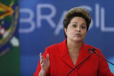 Presidente Dilma Rousseff durante cerimônia no Palácio do Planalto em Brasília. 31/07/2014. REUTERS/Ueslei Marcelino