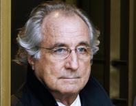 Bernard Madoff exits the Manhattan federal court house in New York in this January 14, 2009 file photo.   REUTERS/Brendan McDermid/Files