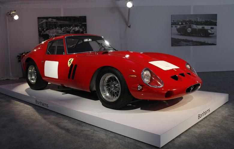 A 1962-63 Ferrari 250 GTO Berlinetta is displayed during a preview for the Bonhams Quail Lodge car auction in Carmel, California, August 14, 2014.  REUTERS/Michael Fiala