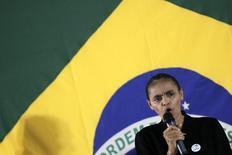 Ex-senadora Marina Silva durante anúncio de que entraria no PSB, em Brasília. 05/10/2013. REUTERS/Ueslei Marcelino