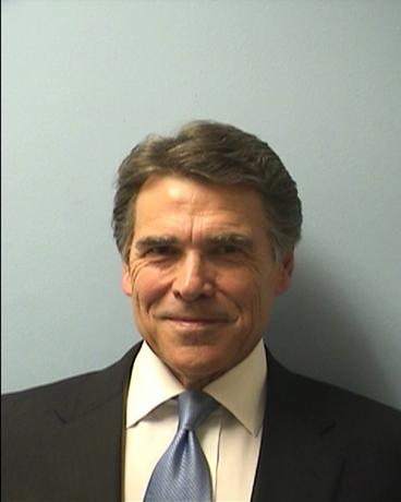 Texas Governor Rick Perry is pictured in this booking photo courtesy of Travis County Sheriff's Office, released on August 19, 2014.  REUTERS/Travis County Sheriff's Office/Handout